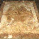 Soft babyalpaca fur carpet, with natural spots, 90 x 60 cm