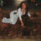 Dark brown baby alpaca fur rug from Peru, 80 x 60 cm