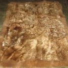 Brown long hair Babyalpaca fur carpet from Peru, 90 x 60 cm