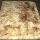 Soft baby alpaca fur rugs in the natural colores white and brown, 90 x 60 cm