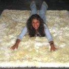 White babyalpaca fur rug from Peru, 90 x 60 cm