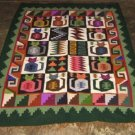 Hand-weaved colorful rug from Peru, Inka Calendarium design