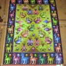 Hand woven peruvian Rug, the 3 regions, 2.95 x 1,97 ft
