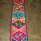 Hand-weaved rug from Peru, Runner with Geometric designs, 4'92 x 0'98 ft.