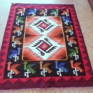 Peruvian hand weaved Rug in a design called: Marriage