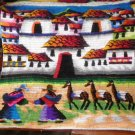 Peruvian motive wall rug , Village of Chincheros