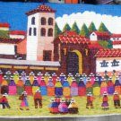 Peruvian motive wall rug , Church of Chincheros