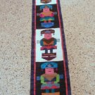 Peruvian hand weaved rug with Tumi Designs