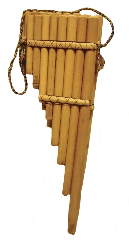 Big Toyo concert panpipes, bamboo, 90 cm tall, original Peruvian instrument