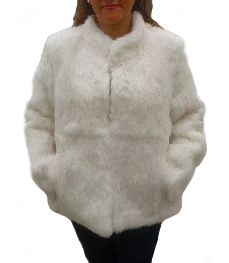 Andean chinchilla fur jacket, white