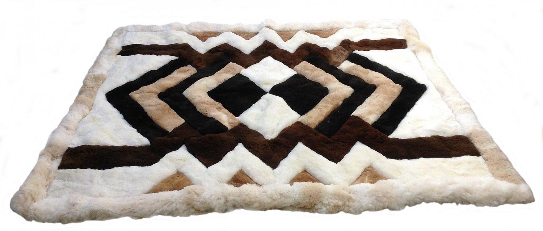 Alpakaandmore Original Peruvian Alpaca Fur Rug Tornillo 120 x 100 cm