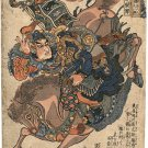 """Samurai Bravery Big"" Japanese Art Print by Kuniyoshi"