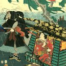"""Ninja Rescue BIG"" Japanese Print Art by Kunisada"