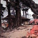 """Azalea Garden Teahouse"" Japanese Art Print by Yoshida"