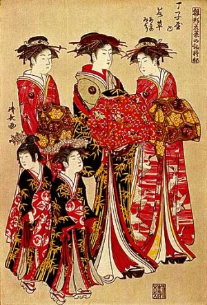 """""""Feminine Beauty"""" Japanese Art Print by Kiyonaga Art"""