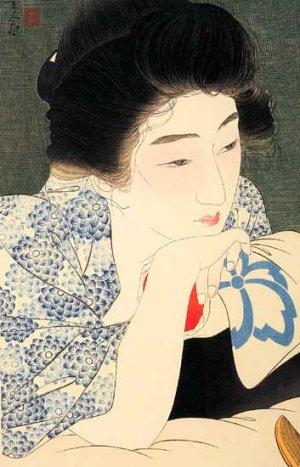 """""""Morning Hair"""" by Kotondo Japanese Art Print Japan Art"""