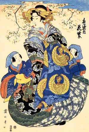 &quot;Mother &amp; Sons&quot; Japanese Art Print Japan Japanese Eizan