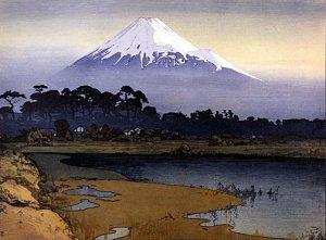 """""""Mt.Fuji Sunrise"""" Japanese Art Print Japan by Yoshida"""