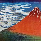 """Red Mt.Fuji"" Japanese Art Print by Hokusai Japanese"