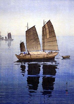 """""""Sailing Boats Forenoon"""" Japanese Art Print by Yoshida"""