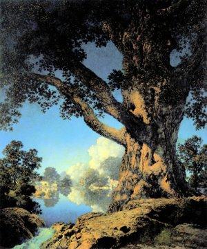 """""""Old Maple"""" BIG Maxfield Parrish Art Deco Print"""