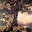 """An Ancient Tree"" BIG Maxfield Parrish Art Deco Print"
