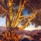 """Old White Birch"" BIG Maxfield Parrish Art Deco Print"