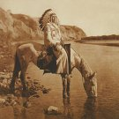 """Bow River Blackfoot"" Edward S. Curtis Native American"