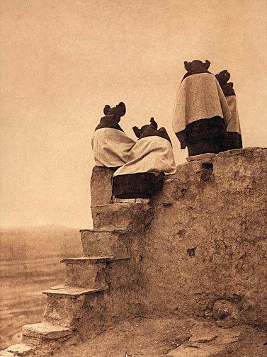 """Hopi Women"" Edward S. Curtis Native American Art Photo"