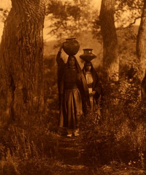"""Taos Water Girls"" Edward S.Curtis Native American Art"