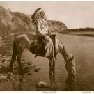 """Bow River Blackfoot"" BIG Edward S.Curtis Indian Art"