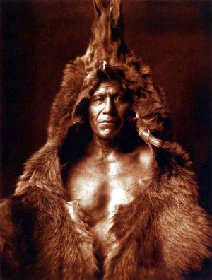 """Bears Belly"" BIG Edward S. Curtis Native American Art"