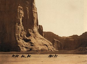 """Canyon De Chelly-Navaho""BIG Curtis Native American Art"