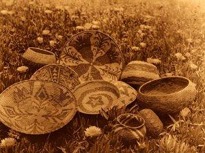 """Mission Indians Basketry"" Edward Curtis Indian Art"