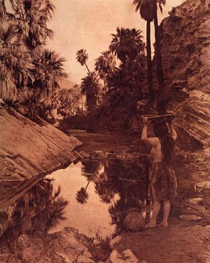 """Palm Canyon"" Edward Curtis Native American Indian Art"