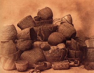 """Puget Sound Baskets"" BIG Edward Curtis Native American"