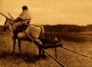 """Travelling-Atsina"" Edward S.Curtis Native American Art"