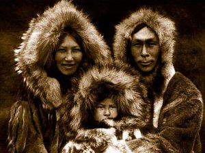 "Edward Curtis ""Family-group-Noatak"" Native American"