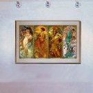 """Times of the Year"" BIG Art Print by Alphonse Mucha"