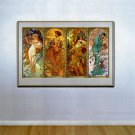 """""""Times of the Year"""" HUGE Art Print by Alphonse Mucha"""