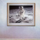 """A Man on the Moon"" Art Print of NASA's Buzz Aldrin"