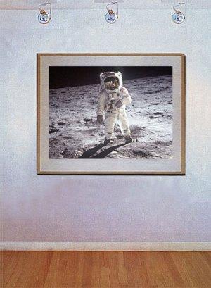 """""""A Man on the Moon"""" Art Print of NASA's Buzz Aldrin"""