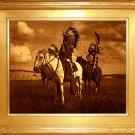 """Sioux Chiefs"" Edward S. Curtis Art Photograph"