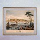 """""""Quebec 1844"""" Bird's Eye View Map Art Print"""