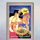 """Hawaiian Lei"" Beautiful Hawaii Surfing Art Print"