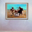 """Attack on the Herd"" BIG Cowboy Art Print Schreyvogel"