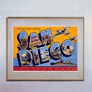 """Greetings from San Diego""  California Art Print"