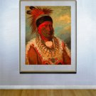 """White Cloud"" BIG George Catlin American Indian Art"