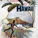 """A Trip To Hawaii"" Old surfing Art Print Hawaii Surfing"