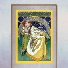 """Princezna Hyacinta"" Art Nouveau/Deco Print A. Mucha"